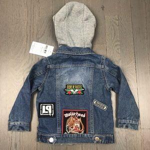 Other - NWT Kids Guns N Roses Hoodie Denim Jean Jacket 2T